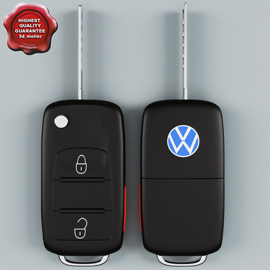 Remote Key Fob Volkswagen royalty-free 3d model - Preview no. 1