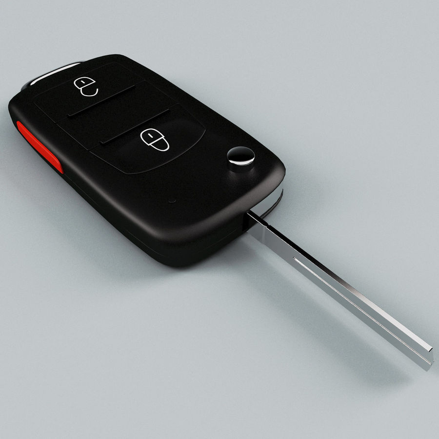 Remote Key Fob Volkswagen royalty-free 3d model - Preview no. 5