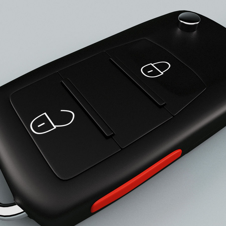 Remote Key Fob Volkswagen royalty-free 3d model - Preview no. 7