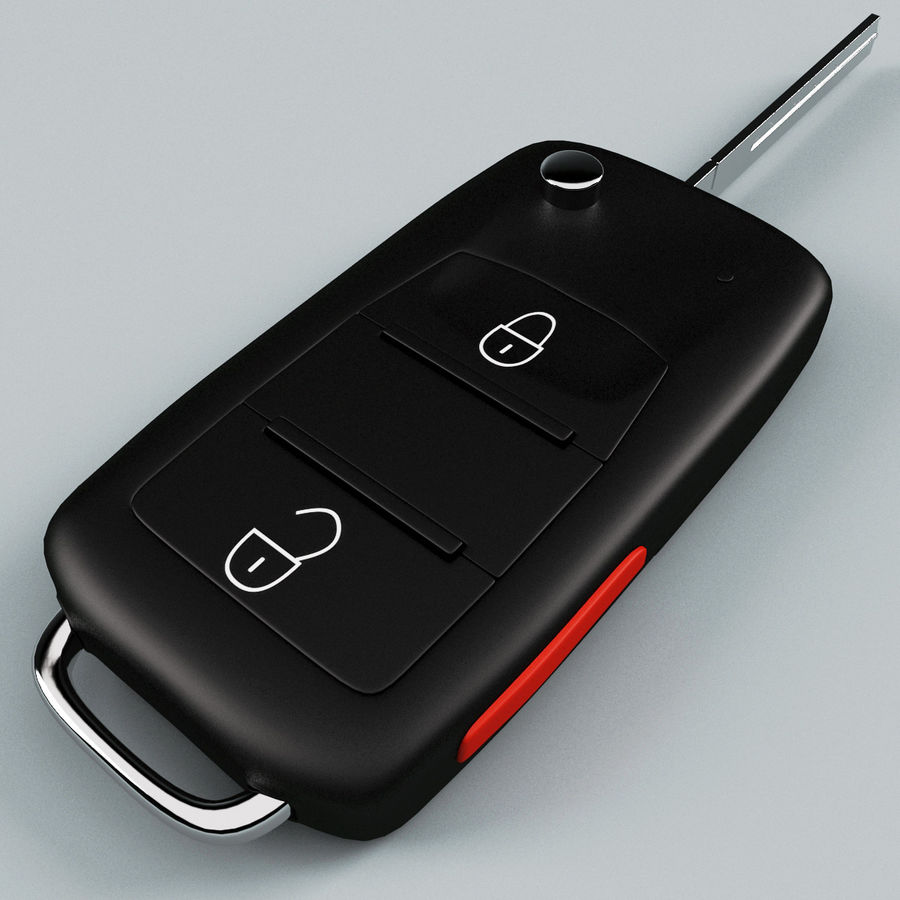 Remote Key Fob Volkswagen royalty-free 3d model - Preview no. 6
