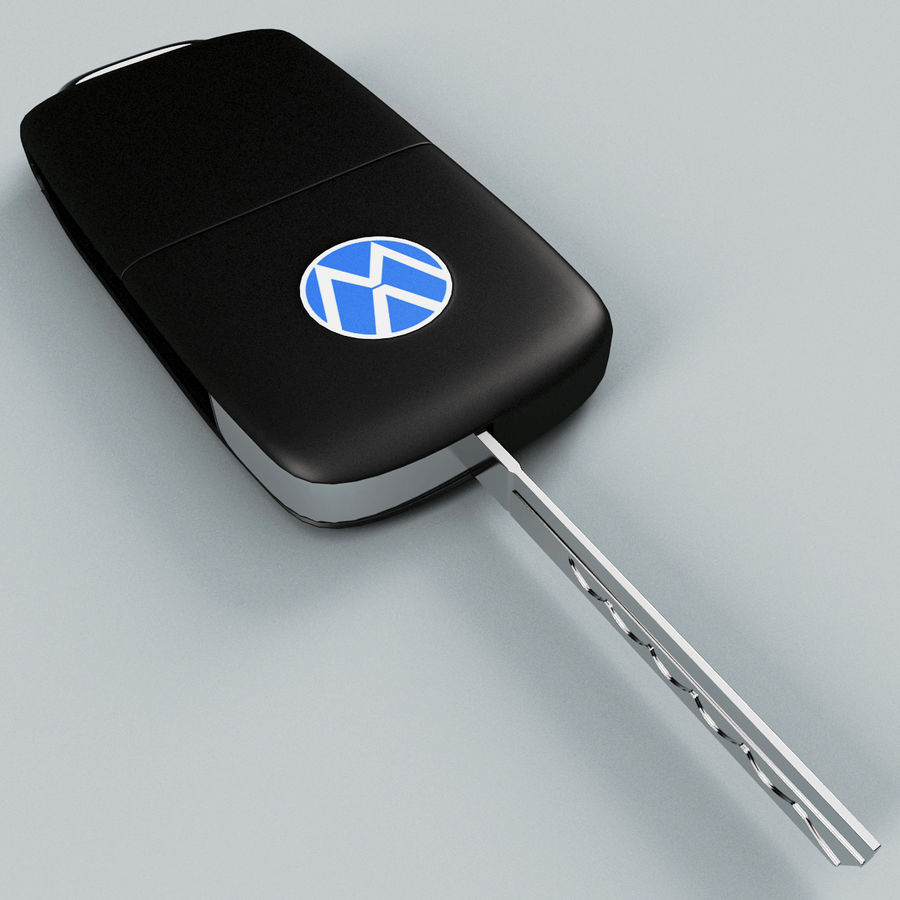 Remote Key Fob Volkswagen royalty-free 3d model - Preview no. 12