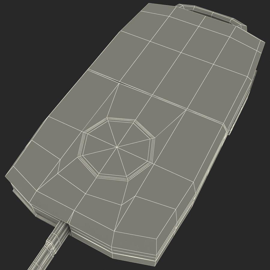 Remote Key Fob Volkswagen royalty-free 3d model - Preview no. 16