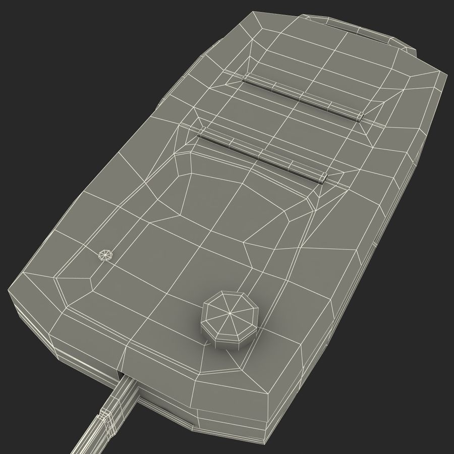 Remote Key Fob Volkswagen royalty-free 3d model - Preview no. 18