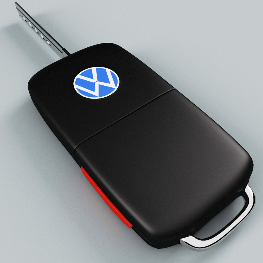 Remote Key Fob Volkswagen royalty-free 3d model - Preview no. 10