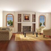 High def Classic living Room 3d model