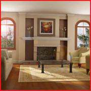 Sala de estar clássica de alta definição 3d model