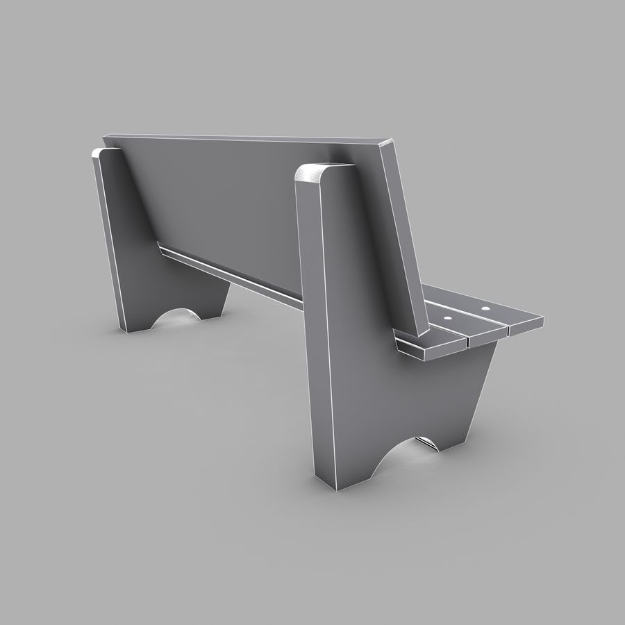 Bench royalty-free 3d model - Preview no. 5