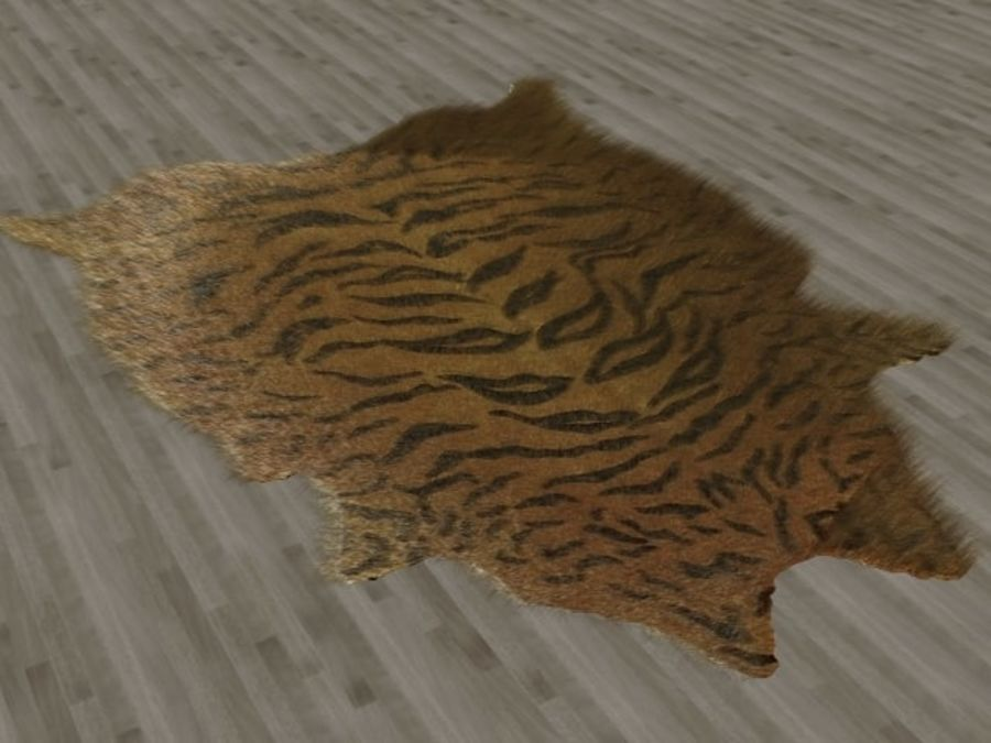 Tiger Skin Fur Rug royalty-free 3d model - Preview no. 1