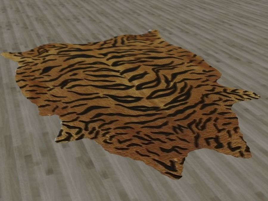 Tiger Skin Fur Rug royalty-free 3d model - Preview no. 3