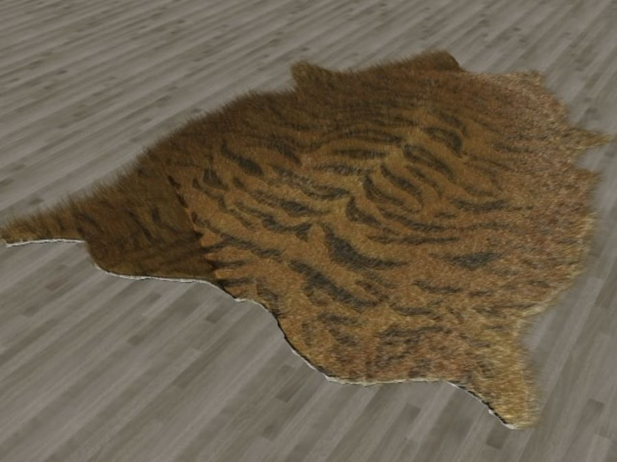 Tiger Skin Fur Rug royalty-free 3d model - Preview no. 2