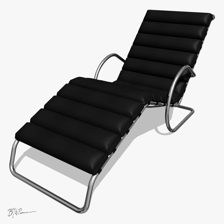 Krzesło szezlongowe MR z ramionami royalty-free 3d model - Preview no. 1