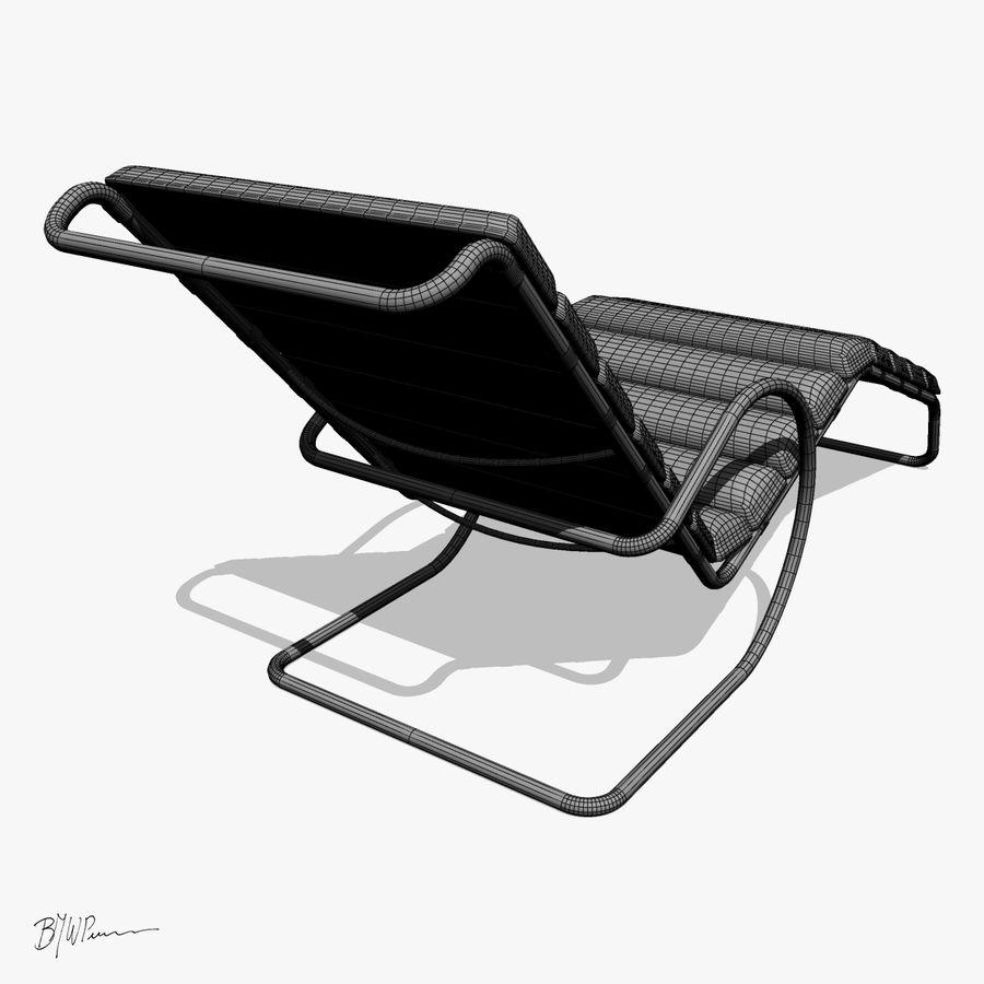 Krzesło szezlongowe MR z ramionami royalty-free 3d model - Preview no. 4