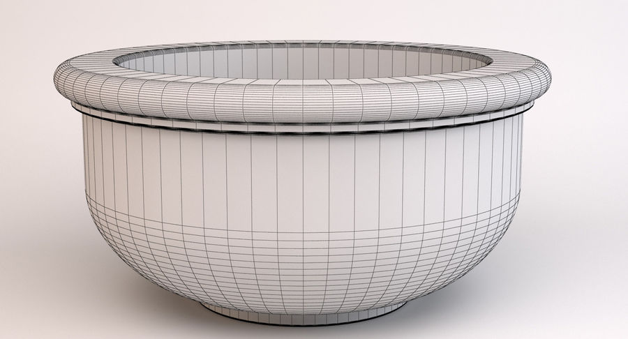 Deco Pot 204 royalty-free 3d model - Preview no. 10