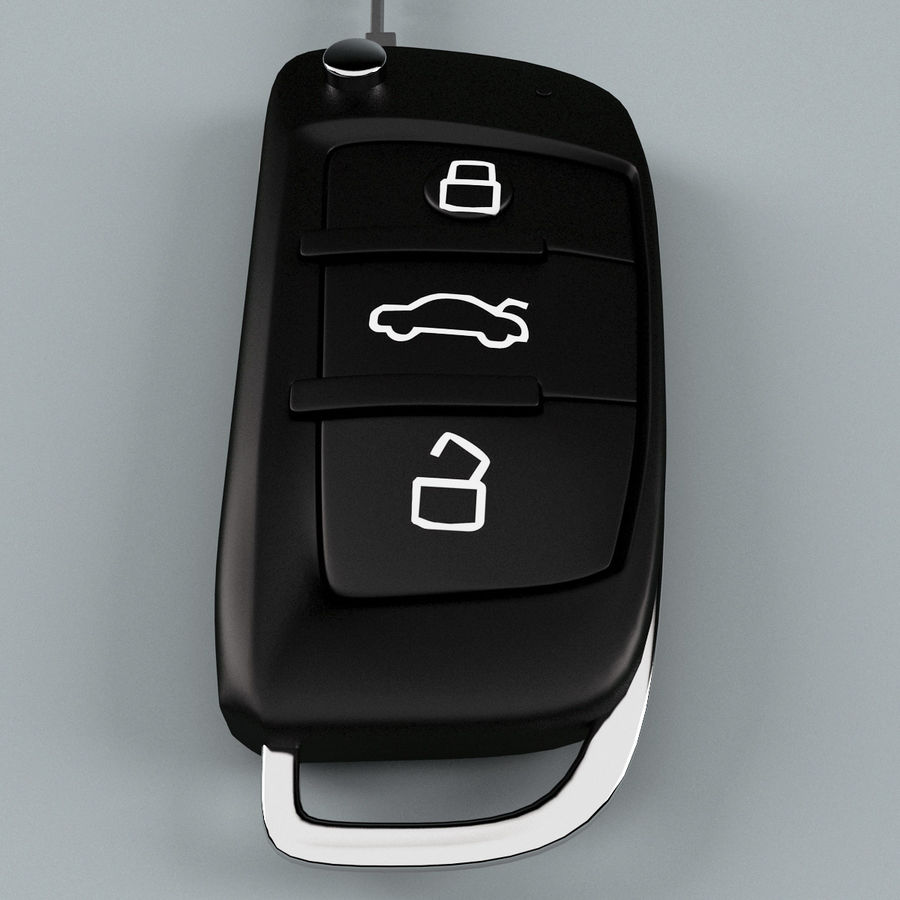 Remote Key Fob Audi A6 royalty-free 3d model - Preview no. 8