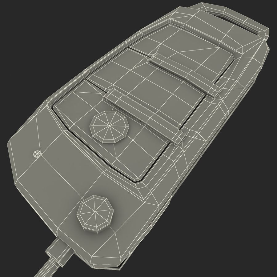 Remote Key Fob Audi A6 royalty-free 3d model - Preview no. 23