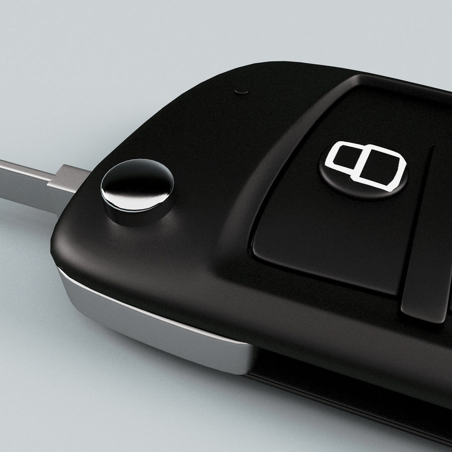 Remote Key Fob Audi A6 royalty-free 3d model - Preview no. 11