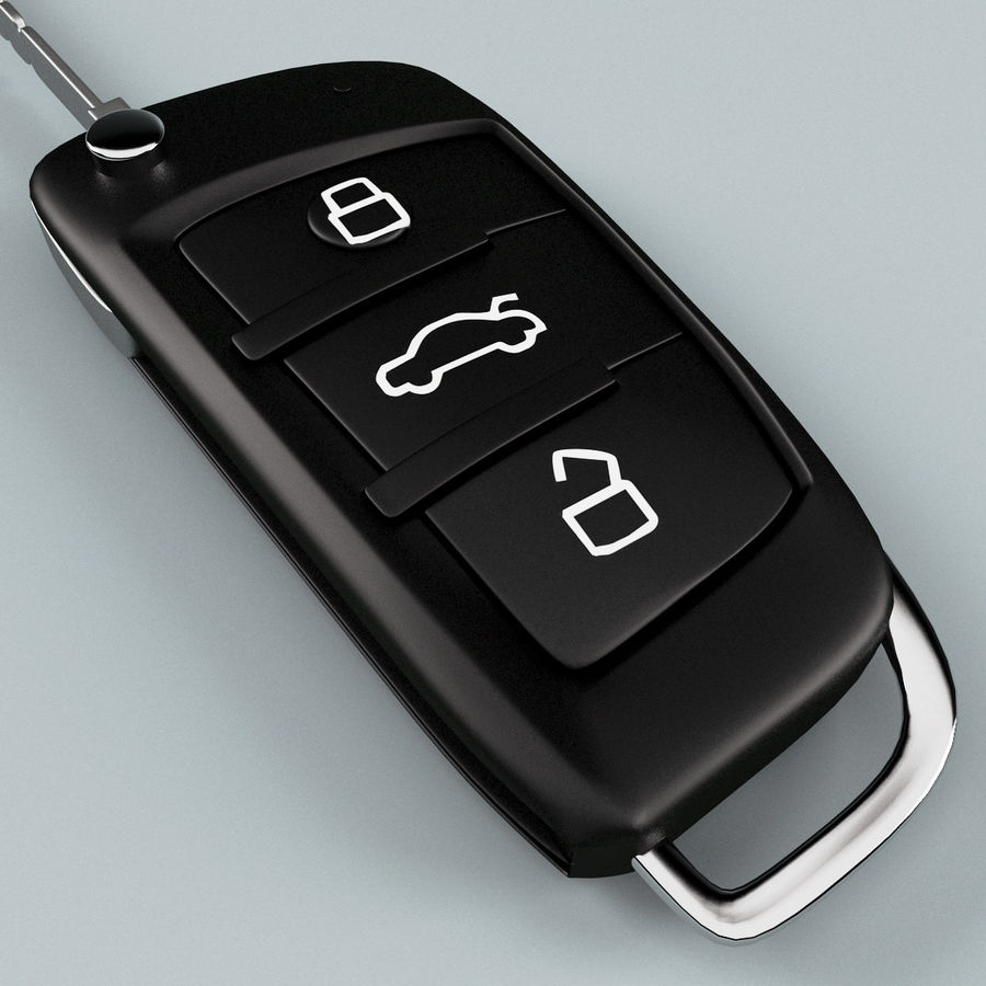 Remote Key Fob Audi A6 royalty-free 3d model - Preview no. 9