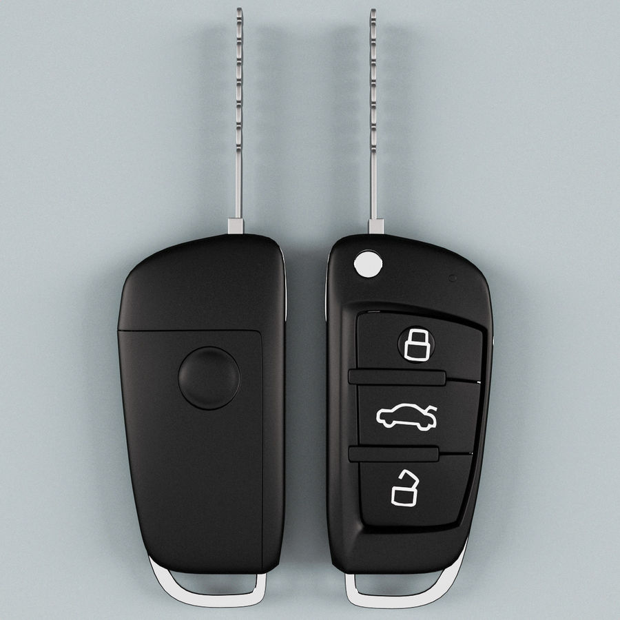Remote Key Fob Audi A6 royalty-free 3d model - Preview no. 2