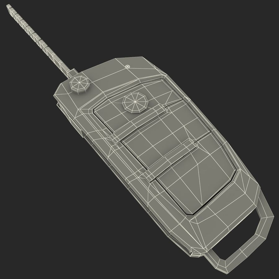 Remote Key Fob Audi A6 royalty-free 3d model - Preview no. 21