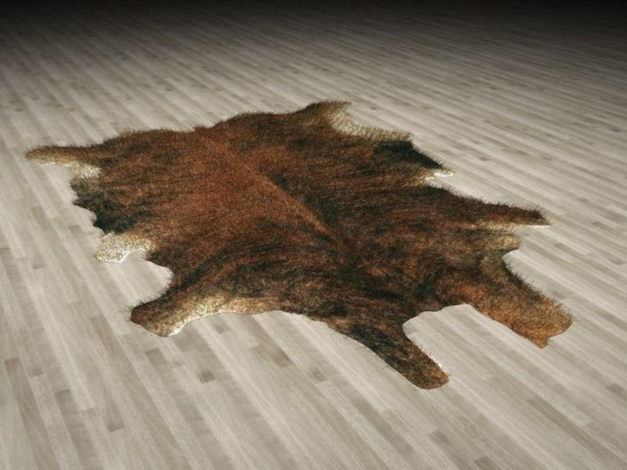 Animal Skin Rug N2 royalty-free 3d model - Preview no. 1