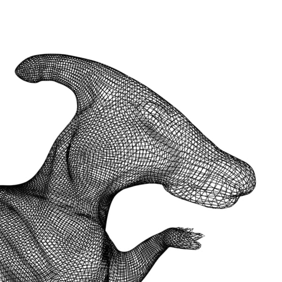 Parasaurophus royalty-free 3d model - Preview no. 10