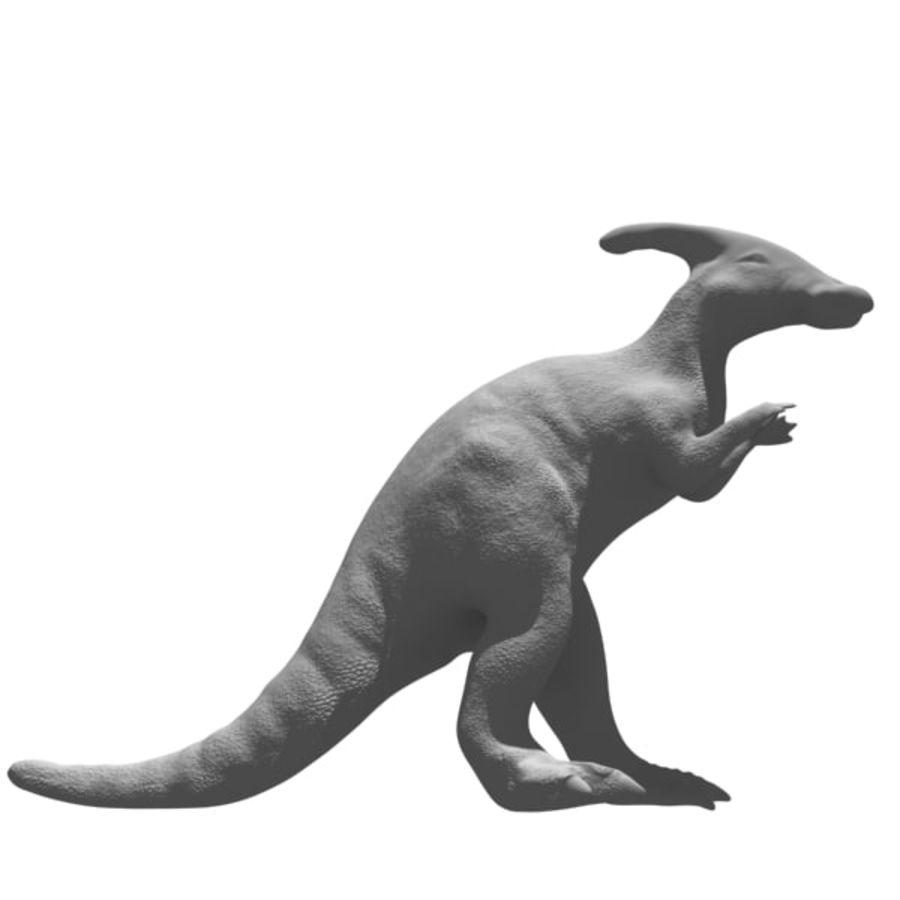 Parasaurophus royalty-free 3d model - Preview no. 7