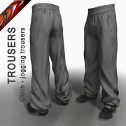 Pantalones de jogging de tela modelo 3d