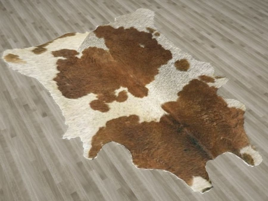 Animal Skin Rug royalty-free 3d model - Preview no. 2