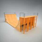 Skatepark Ramp 1 3d model