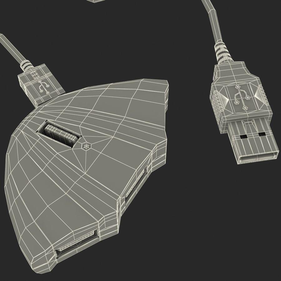 USB Hub royalty-free 3d model - Preview no. 11