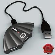USBハブ 3d model