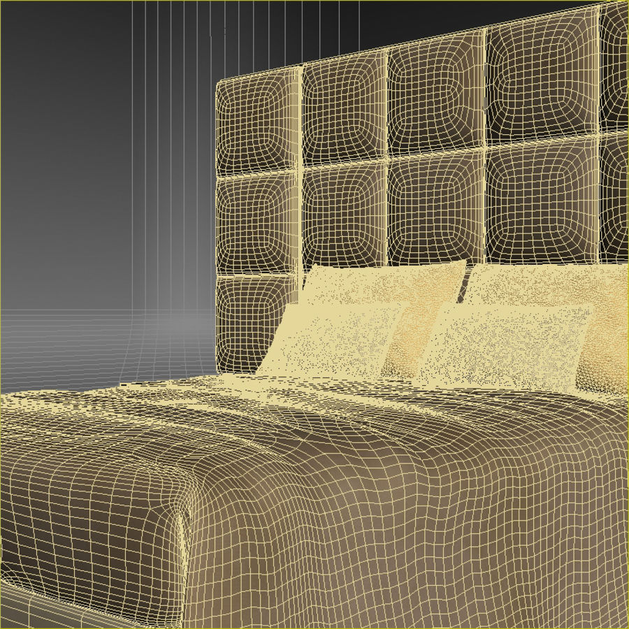 Fendi bed royalty-free 3d model - Preview no. 5