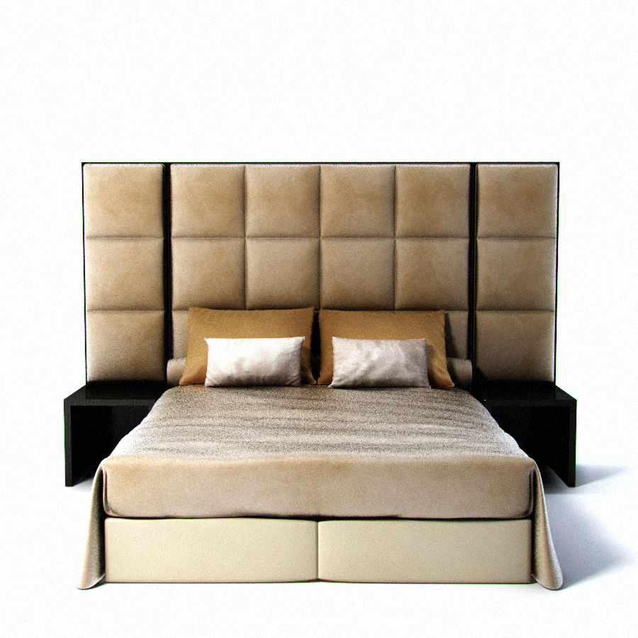Fendi bed royalty-free 3d model - Preview no. 1