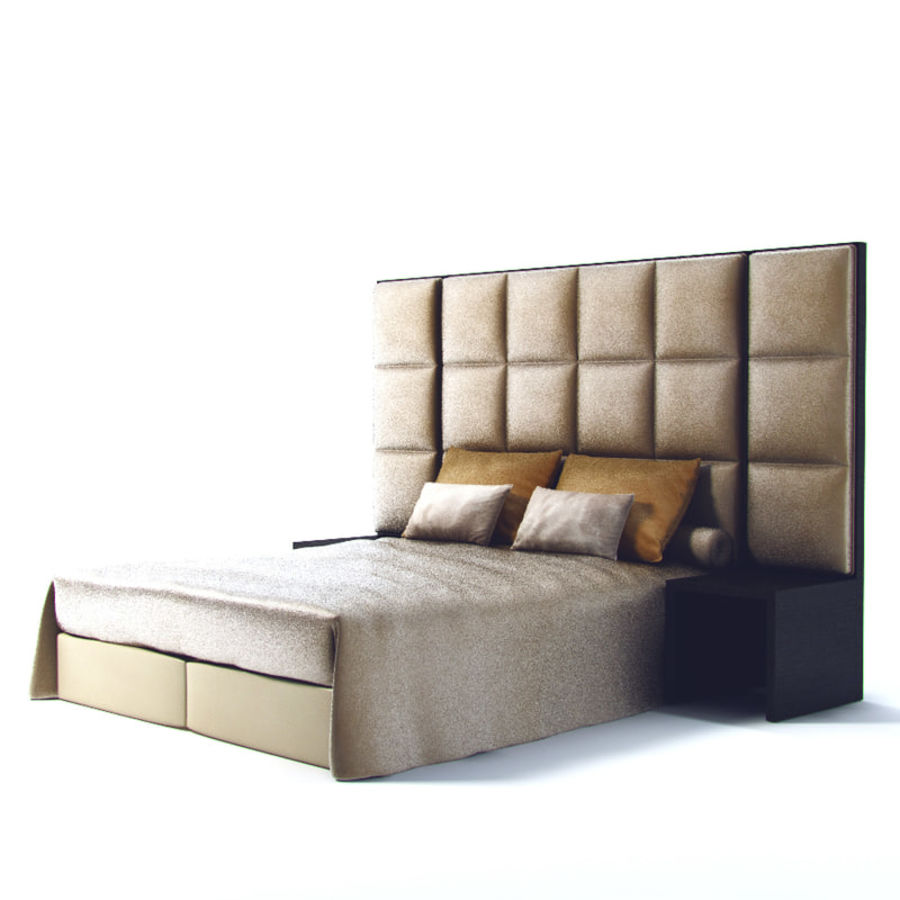 Fendi bed royalty-free 3d model - Preview no. 4