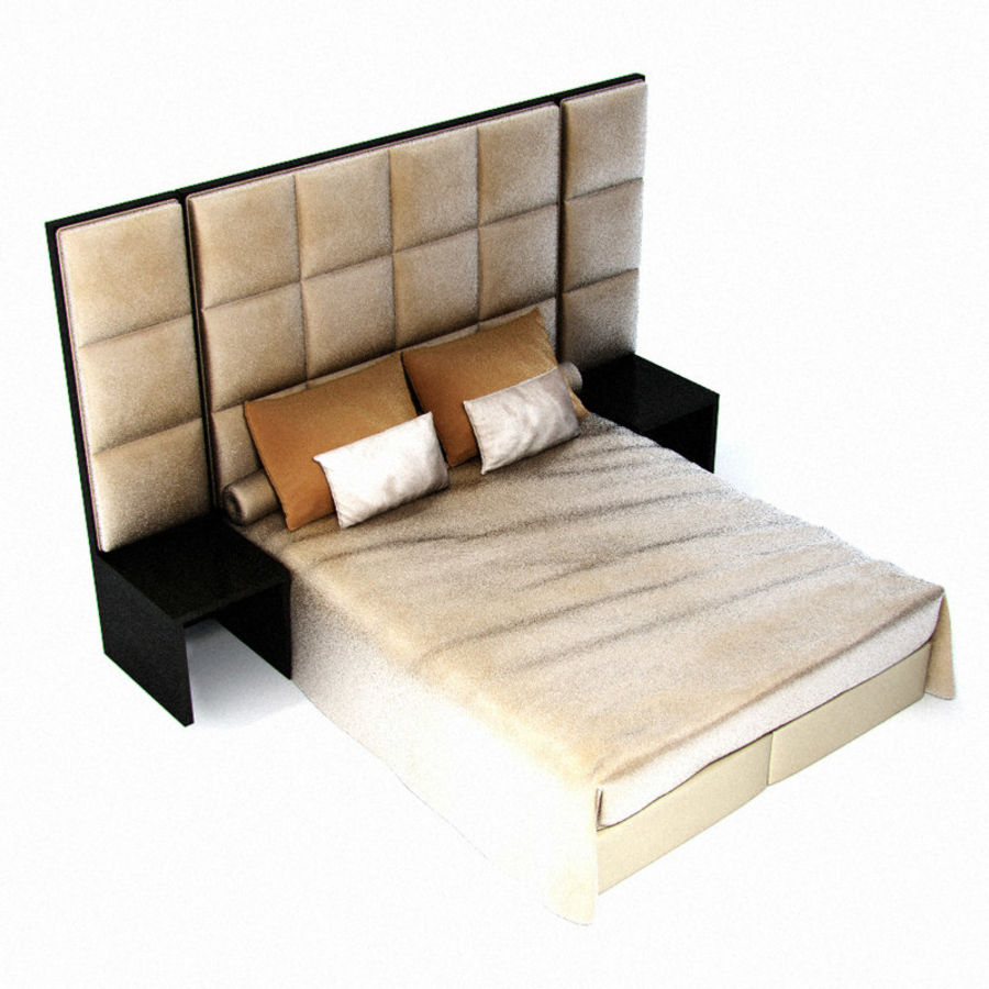 Fendi bed royalty-free 3d model - Preview no. 2