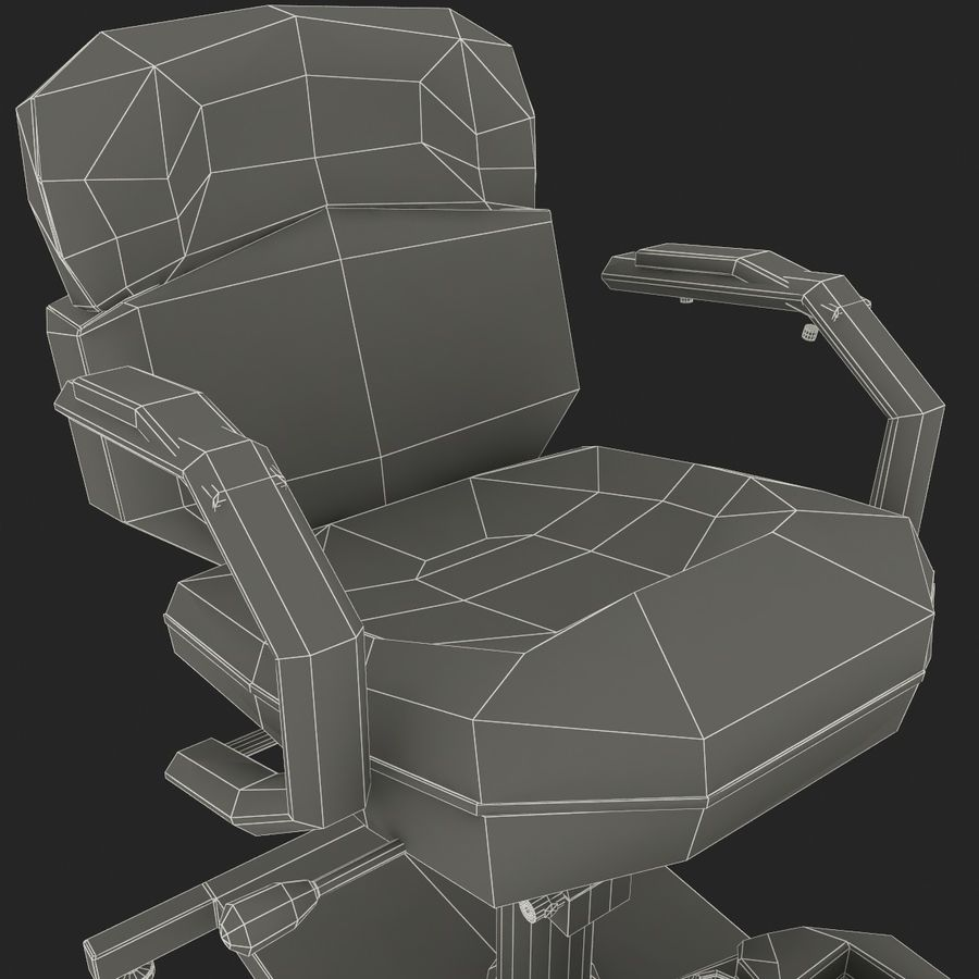 Pedicure Chair V2 royalty-free 3d model - Preview no. 14