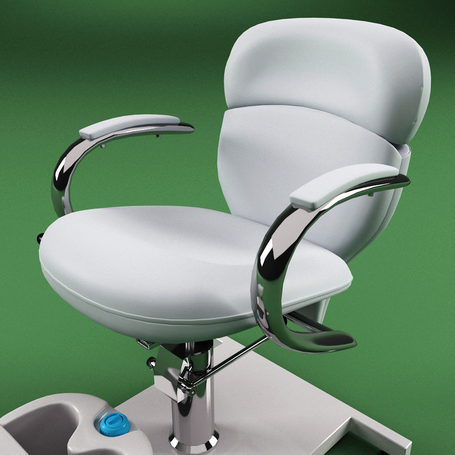 Pedicure Chair V2 royalty-free 3d model - Preview no. 9