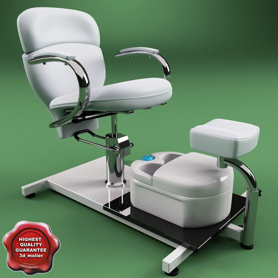 Pedicure Chair V2 royalty-free 3d model - Preview no. 1