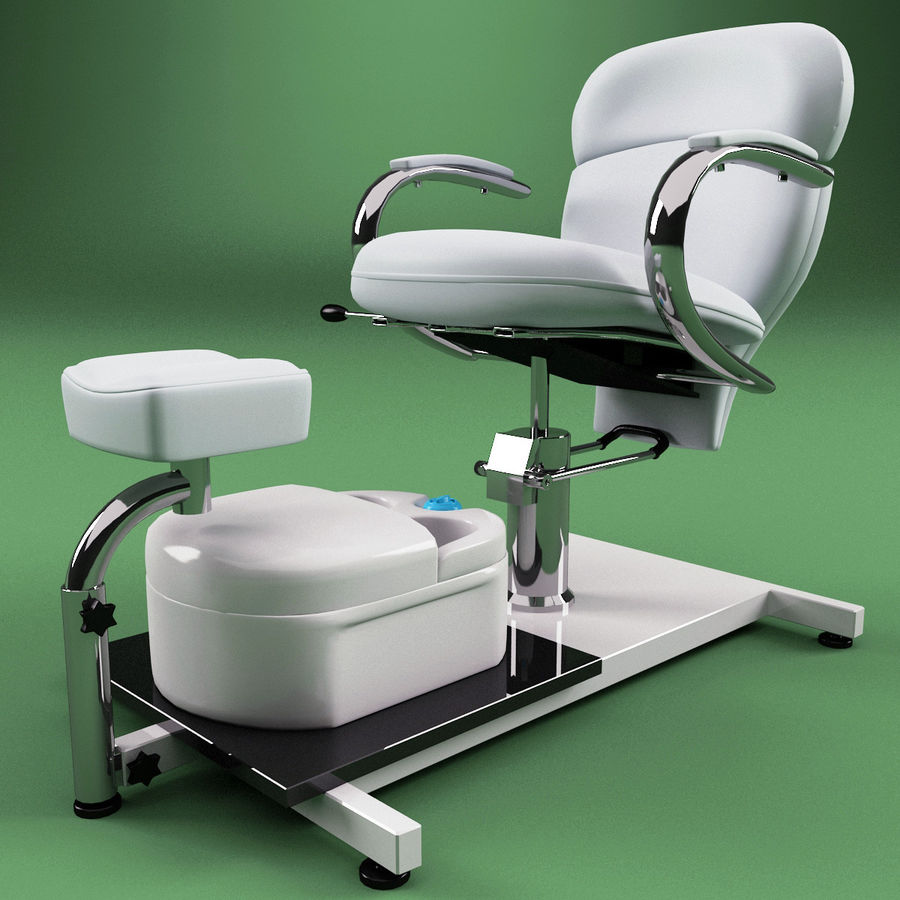 Pedicure Chair V2 royalty-free 3d model - Preview no. 5