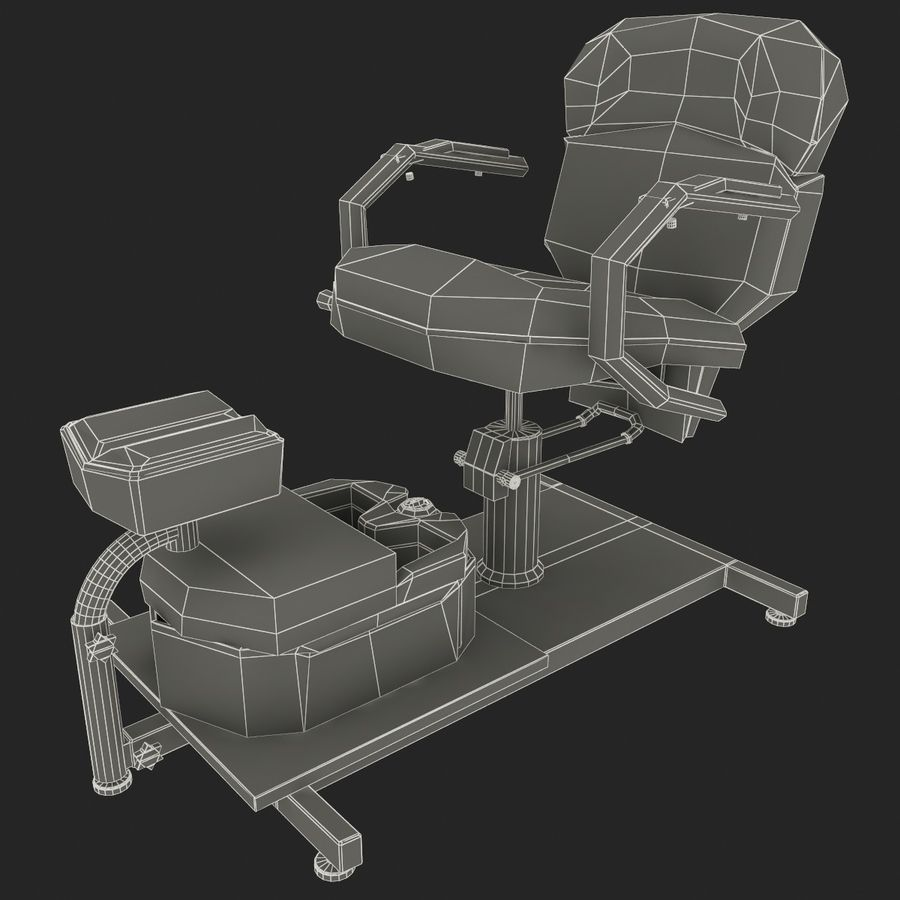 Pedicure Chair V2 royalty-free 3d model - Preview no. 12