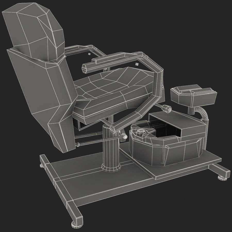 Pedicure Chair V2 royalty-free 3d model - Preview no. 13