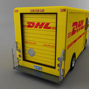Popular DHL Courier truck Morgan Olson van 3d model