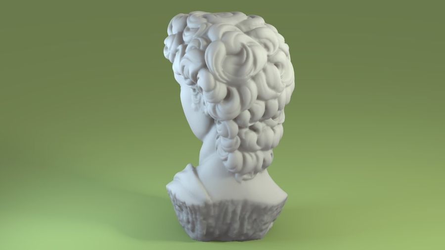3D-skanning av David Bust (1) royalty-free 3d model - Preview no. 3