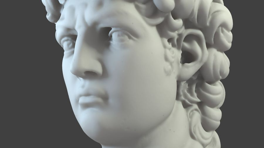 3D-skanning av David Bust (1) royalty-free 3d model - Preview no. 6