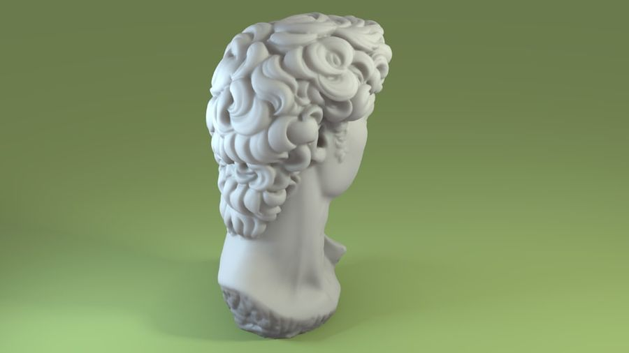 3D-skanning av David Bust (1) royalty-free 3d model - Preview no. 4