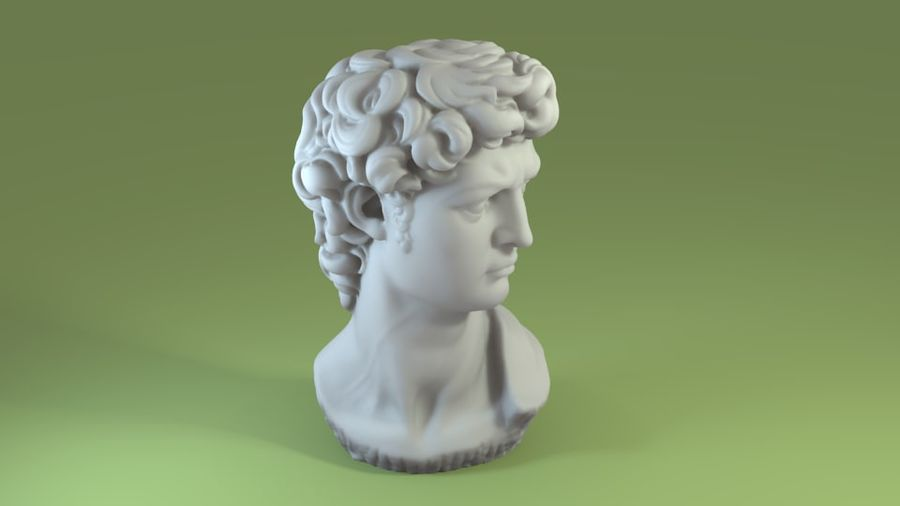 3D-skanning av David Bust (1) royalty-free 3d model - Preview no. 5