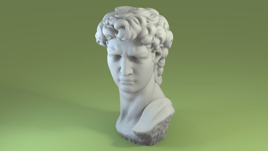 3D-skanning av David Bust (1) royalty-free 3d model - Preview no. 1