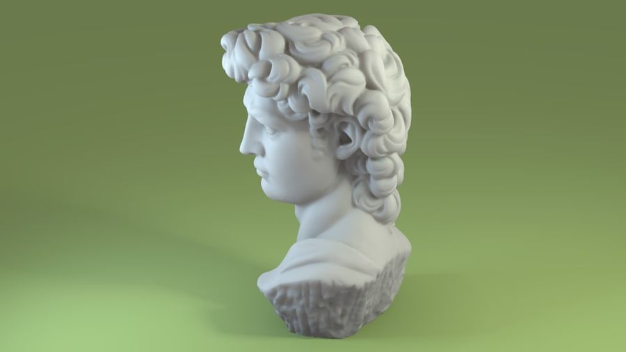 3D-skanning av David Bust (1) royalty-free 3d model - Preview no. 2