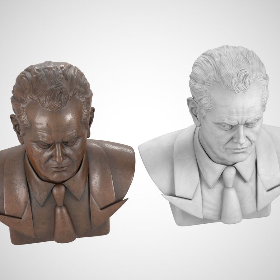 Jack Nicholson Bust royalty-free 3d model - Preview no. 4