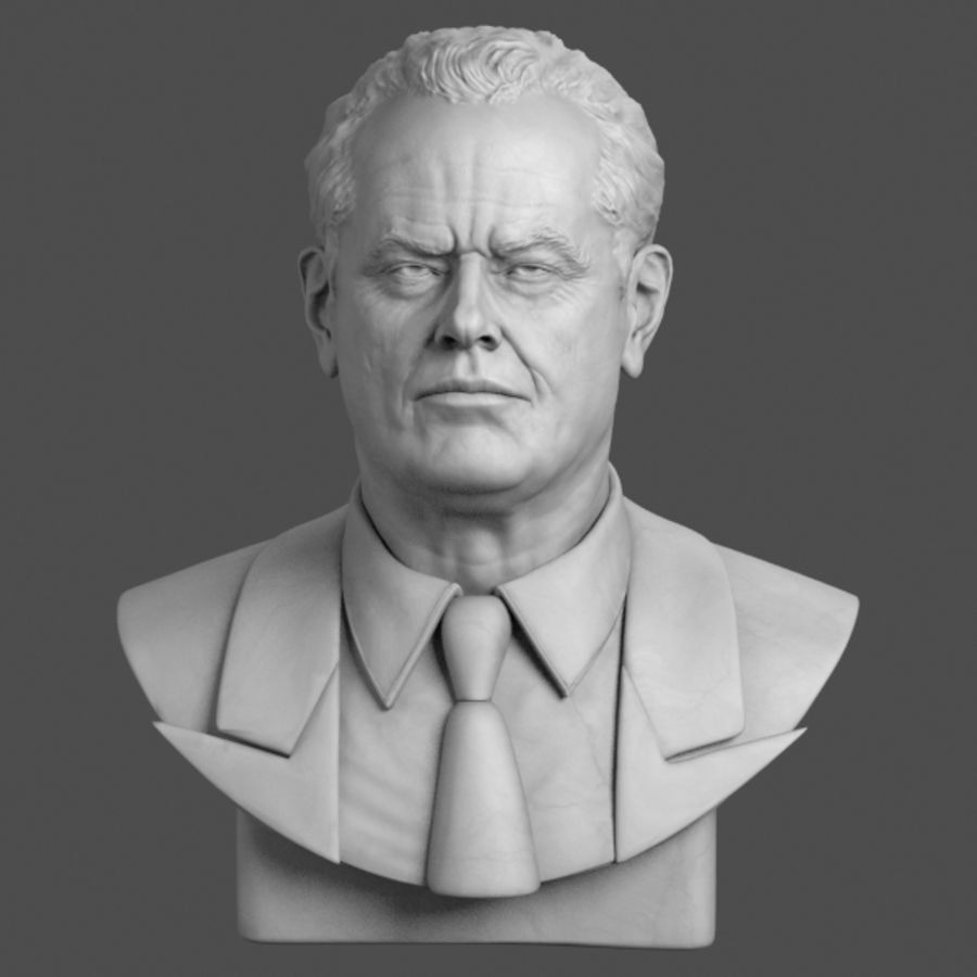 Jack Nicholson Bust royalty-free 3d model - Preview no. 2